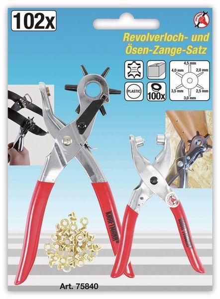 Revolver-Loch-Zange und Nietzange BGS DIY, 102 teilig - Produktbild 2