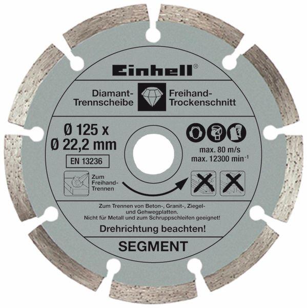 Winkelschleifer EINHELL TE-AG 125/750 Kit, 750W, 125 mm - Produktbild 8