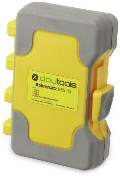 HSS-Bohrerset im Kunststoffkoffer, DAYTOOLS HSS-15 - Produktbild 2