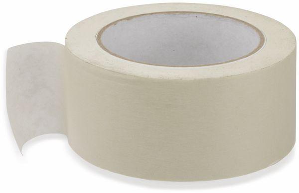 Flachkrepp-Klebeband, Gerband 136, für Malerarbeiten 50 m - Produktbild 1