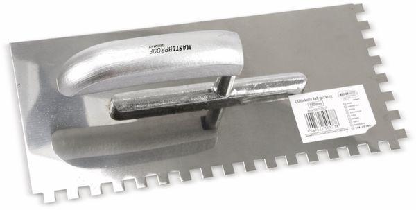 Glättekelle, MASTERPROOF, 280x130x0,7, gezahnt, 8x8 mm - Produktbild 2