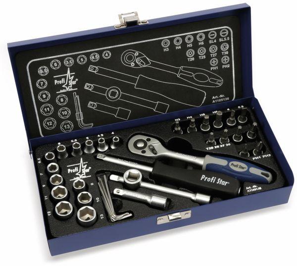 Steckschlüssel-Satz A1105136, 36-tlg. in Stahlblechkassette - Produktbild 1