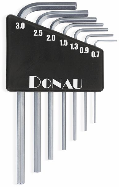 Innensechskantschlüssel-Set DONAUELEKTRONIK 820, 0,7...3 mm, 7-teilig
