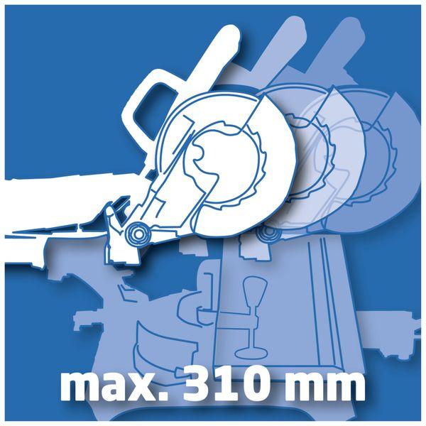 Zug-Kapp-Gehrungssäge EINHELL N-KGS 250, 230V~, 1900W - Produktbild 4