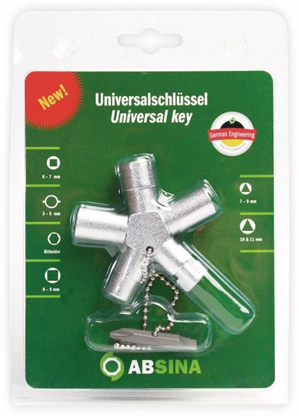 Schaltschrank-Schlüssel ABSINA SI Key Elektro Plus 1008 - Produktbild 2