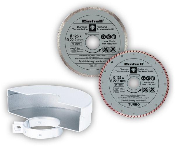 Winkelschleifer EINHELL TE-AG 125 CE Kit, 1100 W, 125mm - Produktbild 3