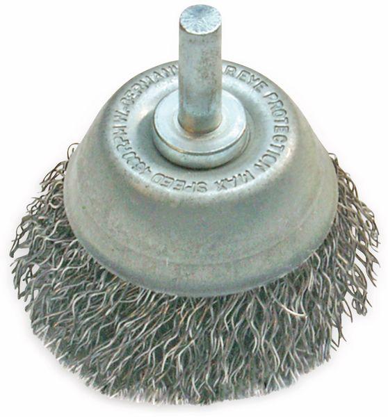 Topfbürste, für Bohrmaschine und Akkuschrauber, Ø 75 mm, Draht
