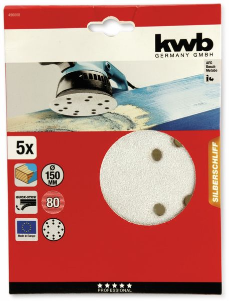 Exenter-Schleifscheiben-Set, KWB, Ø150mm, Körnung 80