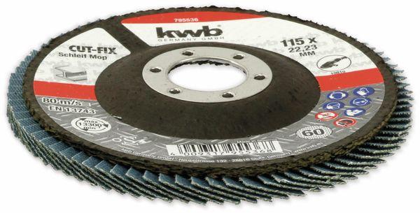 Lamellen-Schleifteller, KWB, 115 mm, Körnung 60, 10 Stück - Produktbild 3