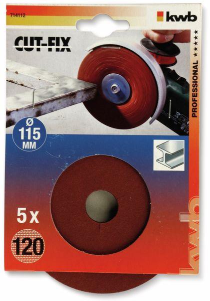 Fiberschleifscheibe, KWB, Ø115mm, K120, 5 Stück