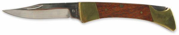 Klappmesser, 6,4 cm, Holz, braun/messing