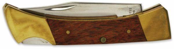Klappmesser, 6,4 cm, Holz, braun/messing - Produktbild 2