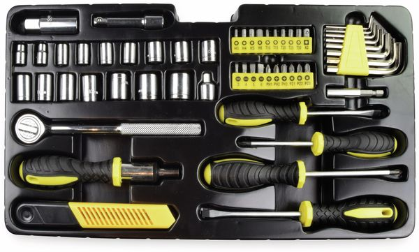 Werkzeugkiste KINZO, Metall, 192-teilig, rot - Produktbild 4