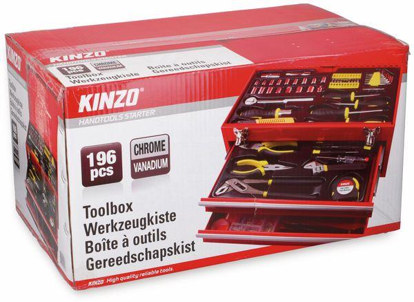 Werkzeugkiste KINZO, Metall, 192-teilig, rot - Produktbild 6