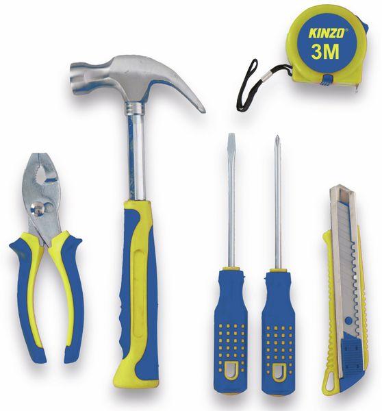 Haushaltswerkzeug-Set KINZO, 6teilig blau, gelb