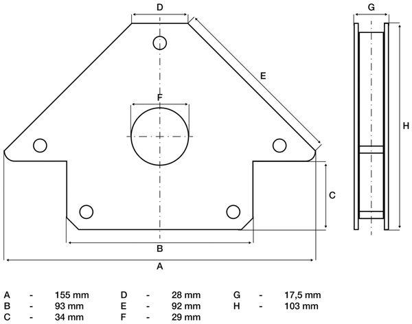 Magnetischer Schweiß- und Montagewinkel BGS 3008 155 mm - Produktbild 3