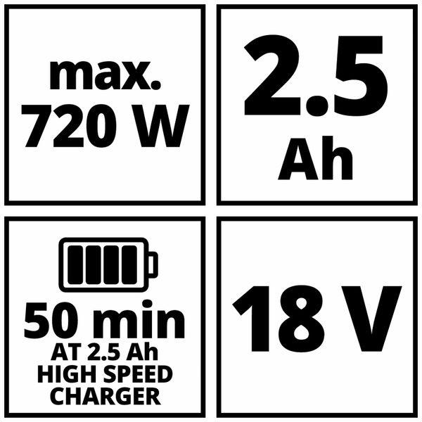 Power X-Change Starter Kit EINHELL 4512097, 18V 2,5Ah - Produktbild 4
