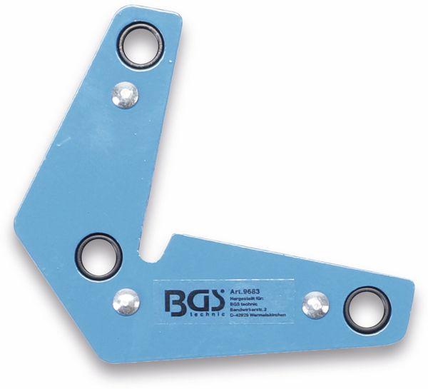 Magnetischer Schweiß- und Montagewinkel BGS 9683, L Form