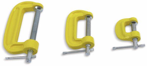 C Schraubzwingen Set DAYTOOLS SG8345, 3-teilig - Produktbild 2