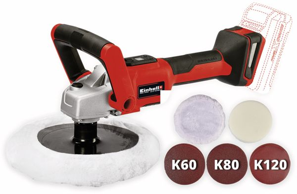 Akku-Polier- und Schleifmaschine EINHELL CE-CP 18/180 Li E Solo - Produktbild 3