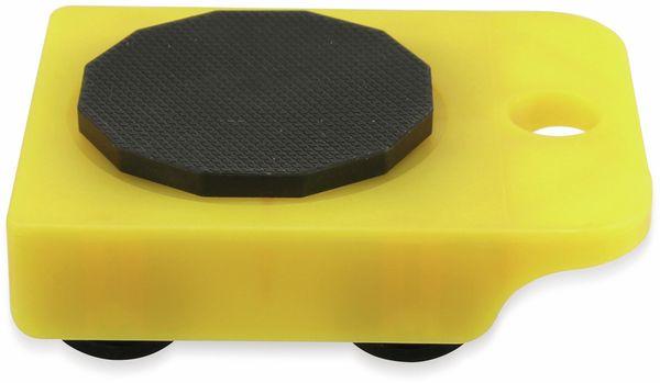 Möbelrollen DÖRNER+HELMER, gelb - Produktbild 2