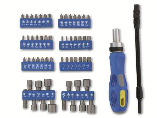 Ratschen-Schraubendreher- und Bit-Set KINZO, 58-teilig