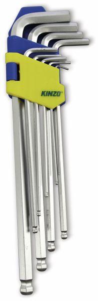 Innensechskantschlüssel-Set KINZO lang, 9-teilig, 1,5...10 mm