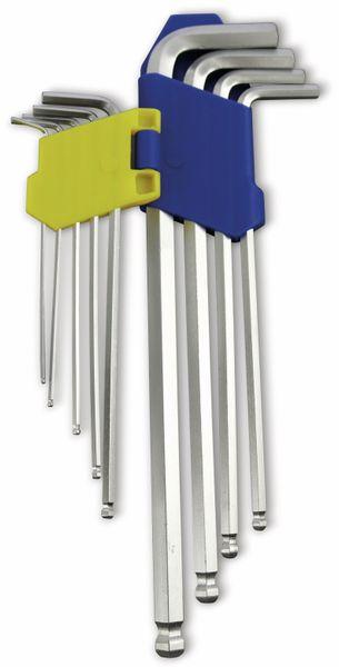 Innensechskantschlüssel-Set KINZO lang, 9-teilig, 1,5...10 mm - Produktbild 2