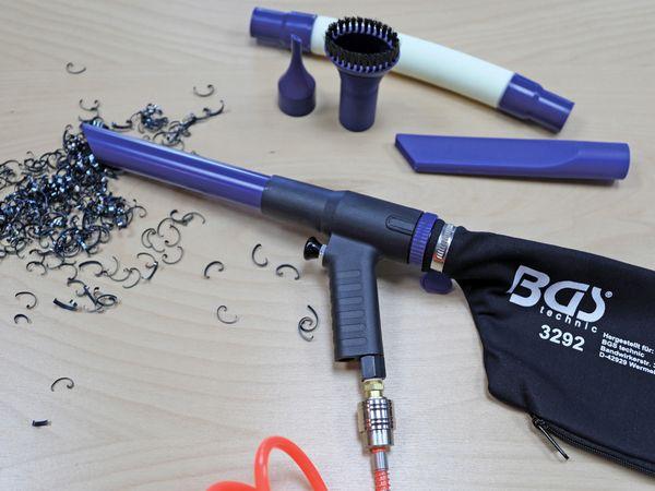 Druckluft-Saug- / Blaspistole, BGS, 9392, umschaltbar, 9-tlg. - Produktbild 2