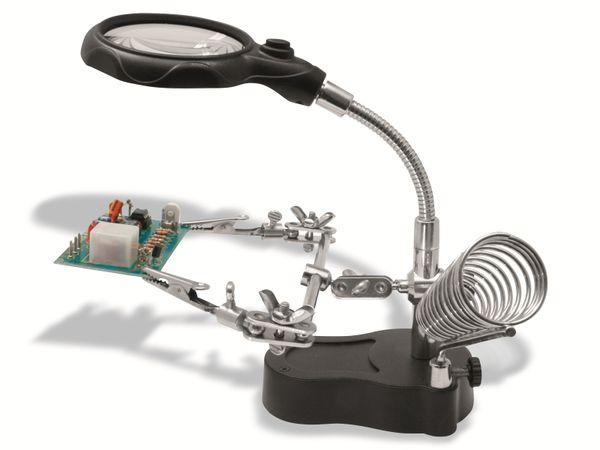 Helping Hand DONAU ELEKTRONIK HH3 mit LED-Licht und Lupe