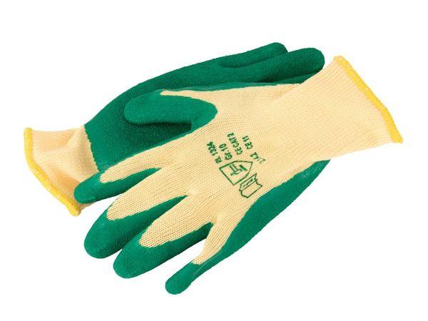 Arbeitshandschuhe, Latex, grün