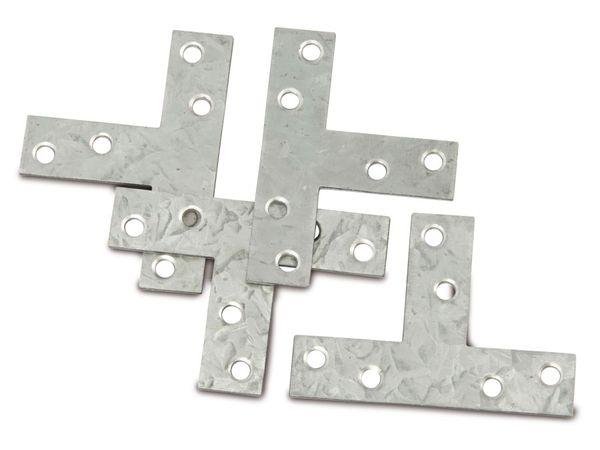 Verbindungsbleche, T-Winkel, 70x50 mm, 4 Stück