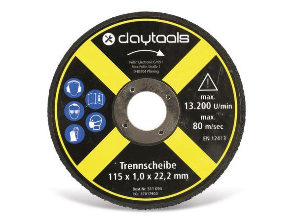 Trennscheibe DAYTOOLS, Metall, 115x1,0x22,2 mm, 5 Stück - Produktbild 2
