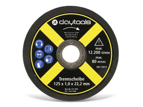 Trennscheibe DAYTOOLS, Metall, 125x1,0x22,2 mm, 5 Stück - Produktbild 2