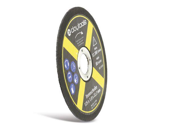 Trennscheibe DAYTOOLS, Metall, 125x1,0x22,2 mm, 5 Stück - Produktbild 3