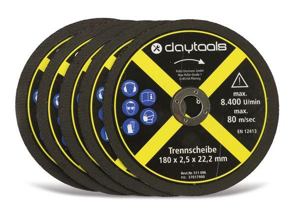 Trennscheibe DAYTOOLS, Metall, 180x2,5x22,2 mm, 5 Stück - Produktbild 1