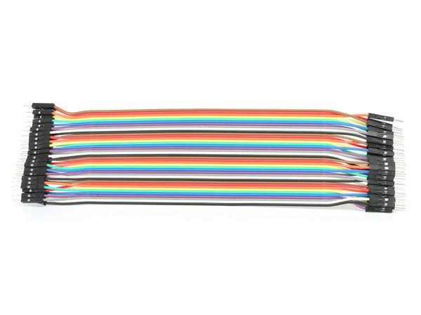 Steckboard-Verbindungsleitungen, Stecker/Stecker, 40-polig