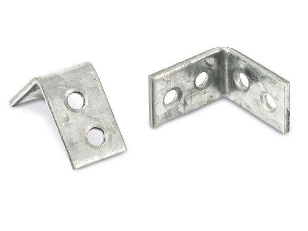 Winkelverbinder (Stuhlwinkel), 25x25x15x2 mm, 12 Stück
