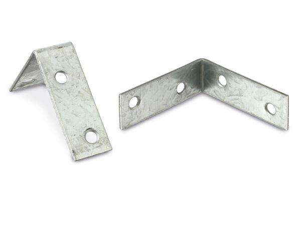 Winkelverbinder (Stuhlwinkel), 60x60x20x2 mm, 8 Stück