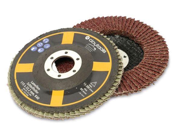 Lamellen-Schleifteller, 115 mm, Körnung 40, 5 Stück