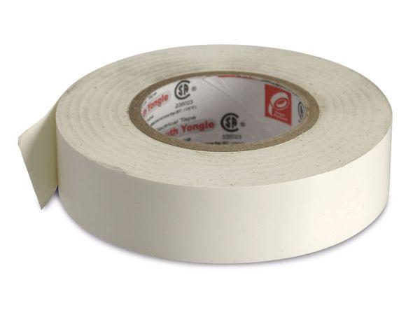 Elektriker-Isolierband, 19 mm, 18 m, weiß, temperaturbeständig