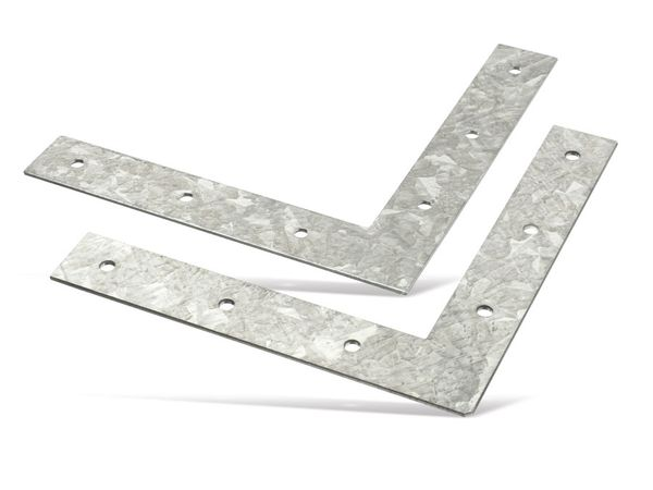 Verbindungsbleche, L-Winkel, 150x150 mm, 2 Stück - Produktbild 2