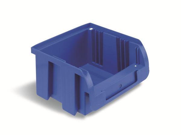 Stapelsichtbox ALLIT ProfiPlus Compact 1, 100x100x60 mm, blau - Produktbild 1