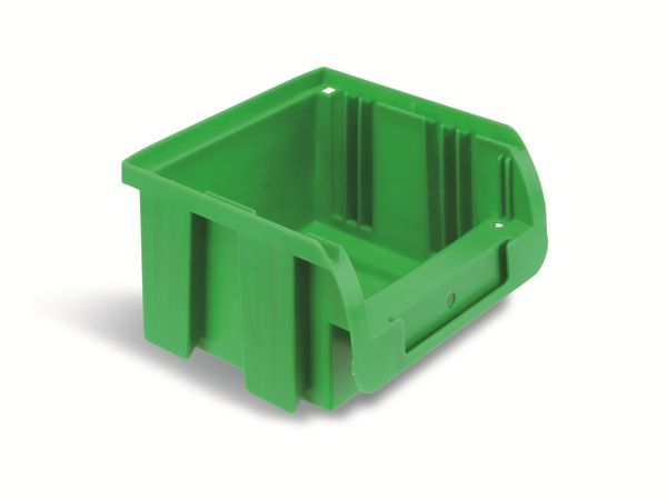 Stapelsichtbox ALLIT ProfiPlus Compact 1, 100x100x60 mm, grün - Produktbild 1