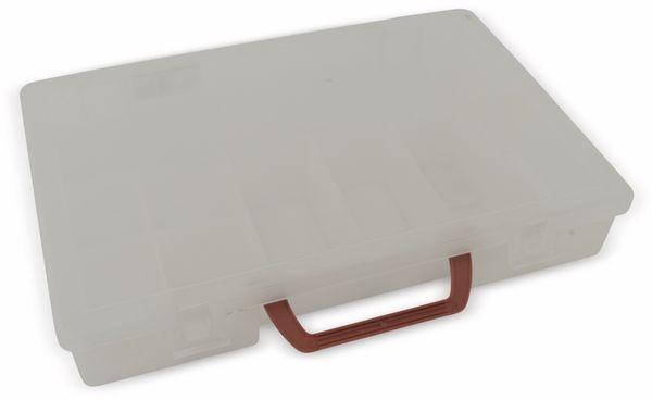 Sortimentskasten 350 mit Tragegriff, 11 Fächer, transparent - Produktbild 1