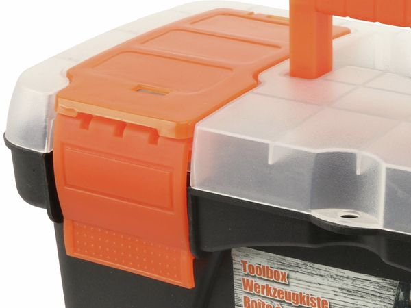 Werkzeugkoffer, Kunststoff , schwarz - Produktbild 2