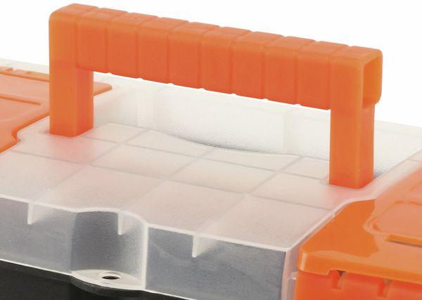 Werkzeugkoffer, Kunststoff , schwarz - Produktbild 3