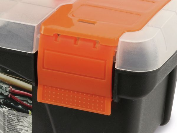 Werkzeugkoffer, Kunststoff , schwarz - Produktbild 4
