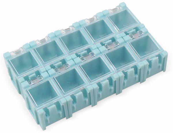 SMD-Container, 10 Stk., anreihbar, blau