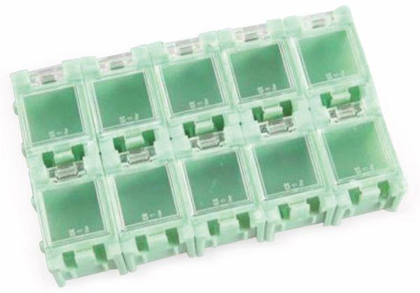 SMD-Container, 10 Stk., anreihbar, grün